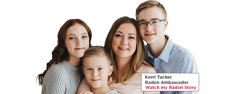 Radon ambassador Kerri and her family